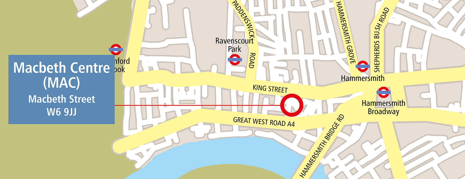 Map of Macbeth Centre venue