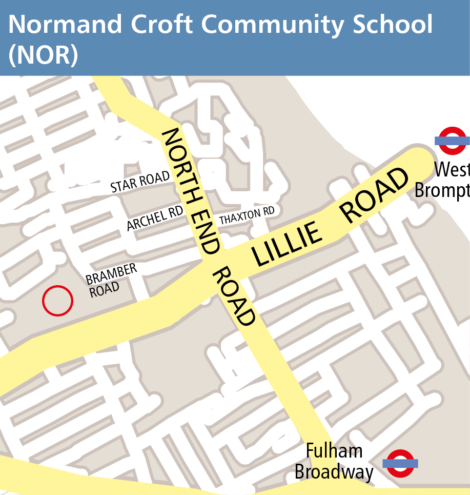Map of Normand Croft Community School venue