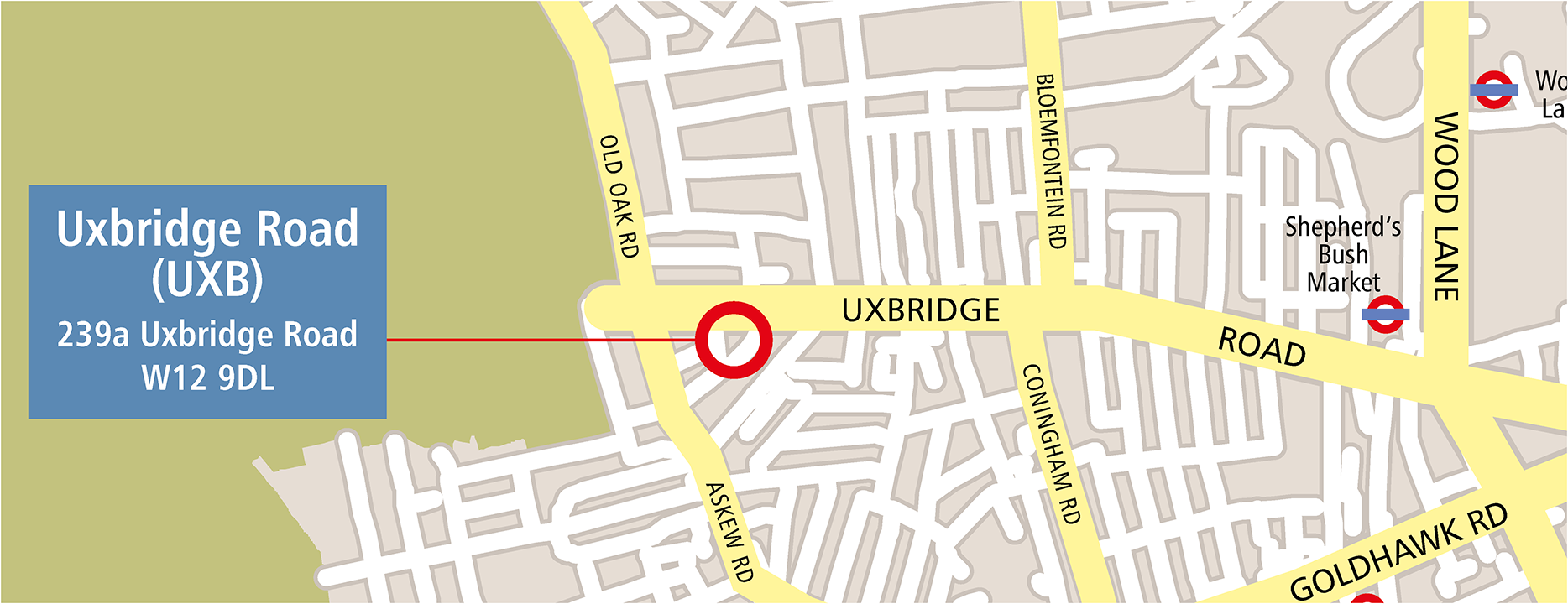 Map of Uxbridge Road venue