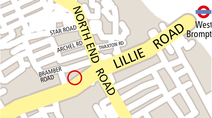 Map image of Lillie Road Venue