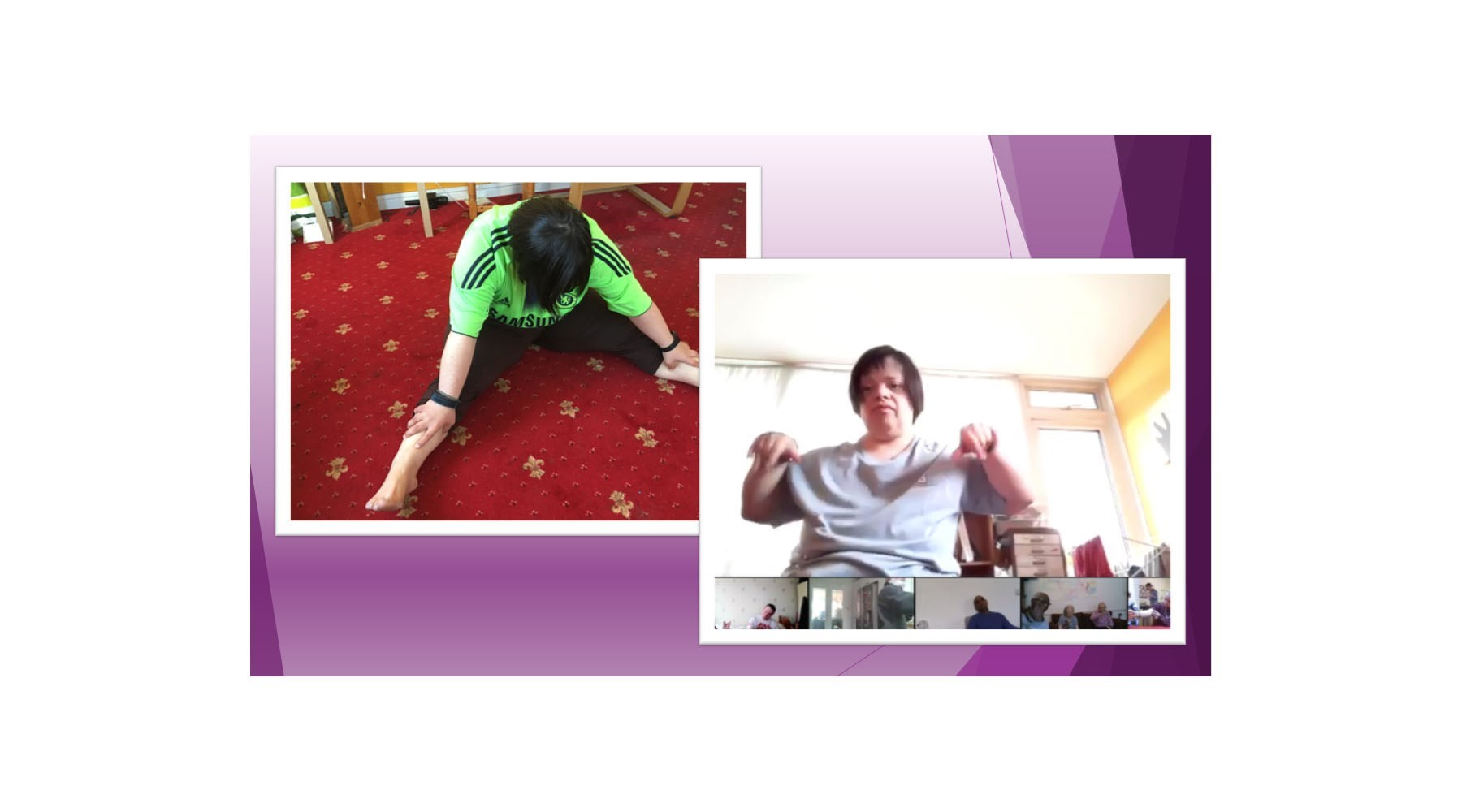 Pictures of a woman doing exercise