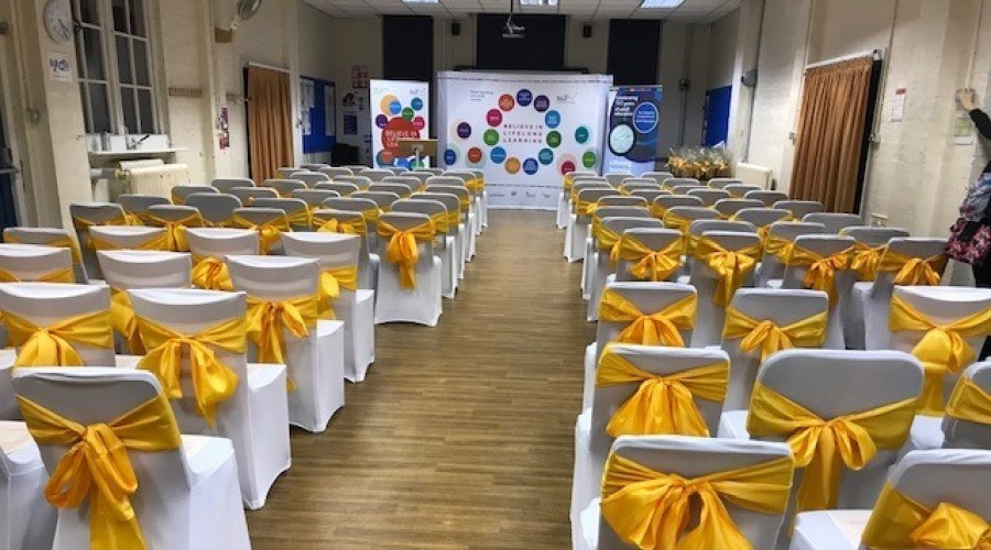 Celebration of Success in large hall
