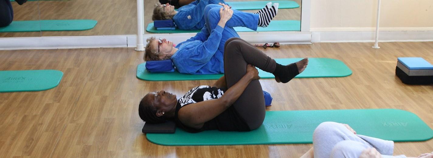 Agewell class in yoga pose