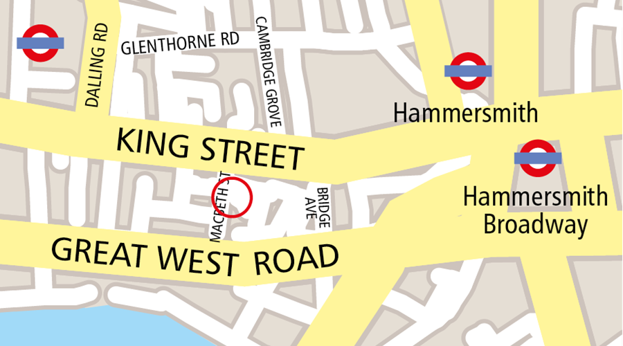 Map image of Macbeth Centre venue