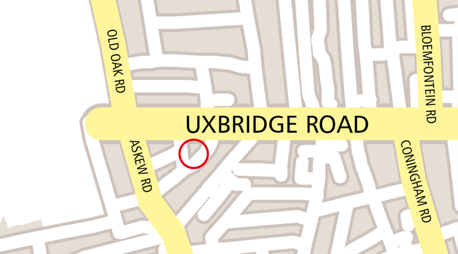 Map image of Uxbridge Road Venue