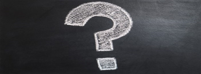 white question mark symbol against a black background