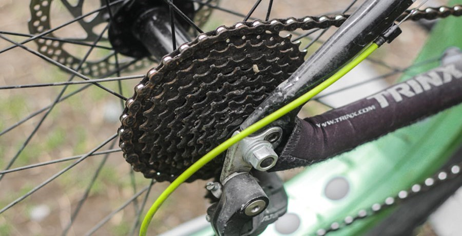 Bicycle gears close up
